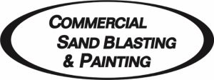 commercial sand blasting and painting logo large